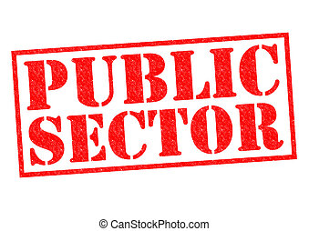 PUBLIC SECTOR red Rubber Stamp over a white background.