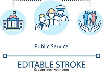 Public service concept icon. Government employee for ...