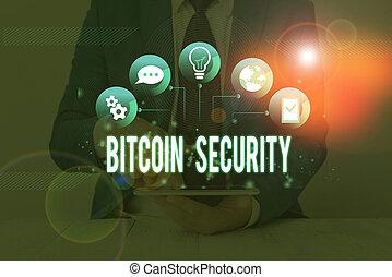 public, signification, verrouillé, bitcoin, texte, system.,...