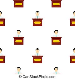 Public speaker pattern flat