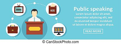 Public speaking banner horizontal concept