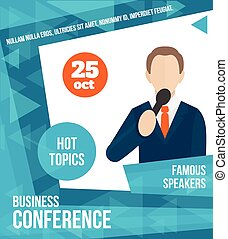 Public speaking poster - Public speaking business conference...