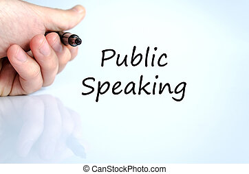 Public speaking text concept