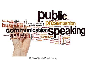 Public speaking word cloud - Public speaking concept word...