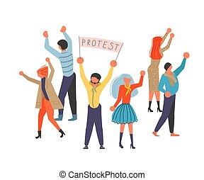 Public Street Protest concept.