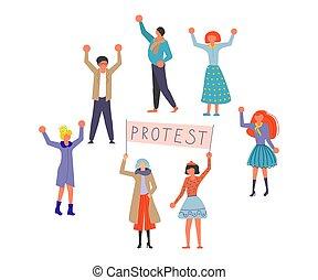 Public Street Protest concept