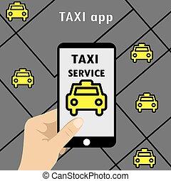 Public taxi online service, mobile application.