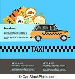 public taxi service,taxi car. Illustration