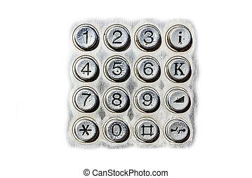 Public telephone keypad