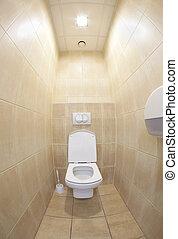 Public toilet - fisheye lens used