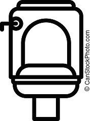 Public toilet icon, outline style
