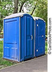 Public toilet in the park