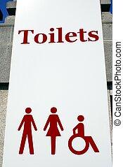 public toilets sign