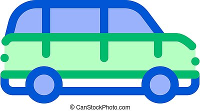Public Transport Automobile Vector Thin Line Icon