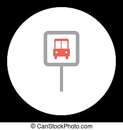 public transport bus stop sign icon eps10