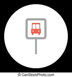 public transport bus stop sign icon eps10