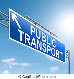 Public transport concept.