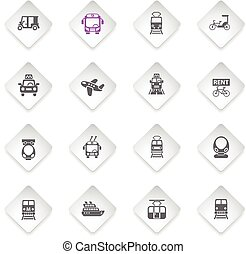 public transport icon set