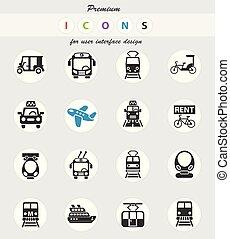 public transport icon set - public transport web icons for...