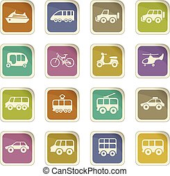 Public transport icons set - Public transport icon set for...