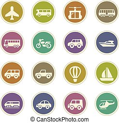 Public transport icons set - Public transport icon set for...