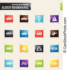 Public transport icons set - Public transport icons for your...