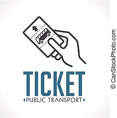 Public transport ticket logo - bus