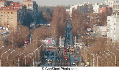 Public transport tram system called Russia Izhevsk
