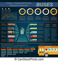 Public transportation ingographics.