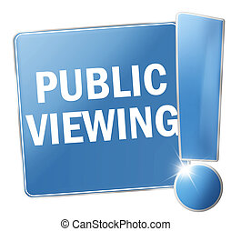 public viewing blue icon