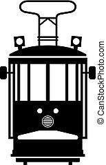 Public vintage tram
