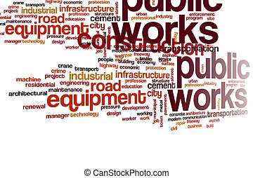 Public works word cloud