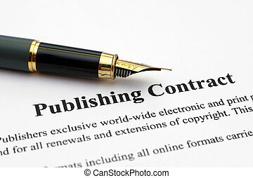 publicación, contrato