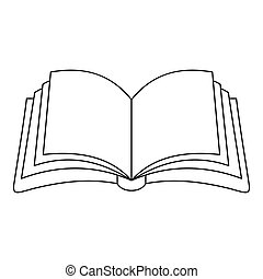 Publication in book icon, outline style.
