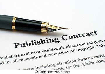 publicerande, avtal