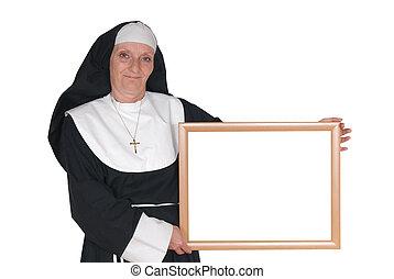 publicidad, monja, hermana