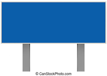 publicidad, signboard, cartel, grande, blanco, gris, espacio, signage, metal, zona lateral de camino, metálico, tabla, placa, vacío, copia, rectangular, aislado, plano de fondo, señal, poste indicador, poste, horizontal, rectángulo, anuncio, poste, azul, anuncio