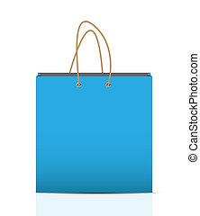 publicidad, vector, bolsa, branding, compras, vacío, ilustración