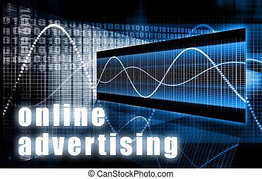 publicité, ligne