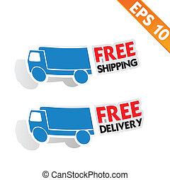 publicité, -, transport, vecteur, gratuite, logistique, ...