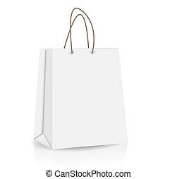 publicité, vecteur, sac, marquer, achats, vide, illustration