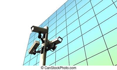publiek, bewaking camera