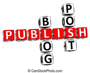 Publish Blog Post Crossword