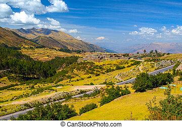 Puca Pucara ruins near Cuzco City, Peru