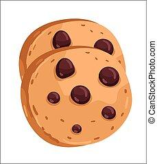 puce, petit gâteau, dessin animé, illustration, chocolat