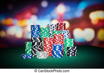 puces poker, fond, barbouillage