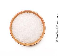 puchar, biały, sól, tło