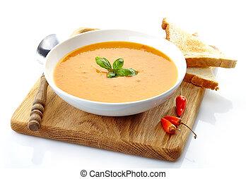 puchar zupy, miąższ