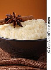pudín arroz