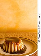 Pudding #1 - Creme Caramel Pudding - Copy space